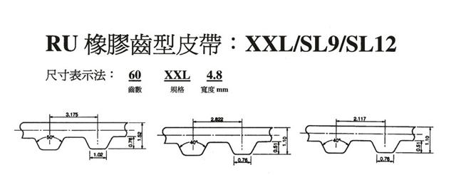 齒形皮帶-XXL